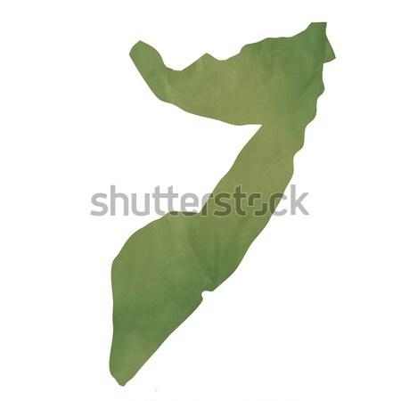 Starych zielone papieru Pokaż Somali odizolowany Zdjęcia stock © speedfighter