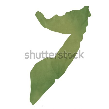 Vieux vert papier carte Somalie isolé Photo stock © speedfighter