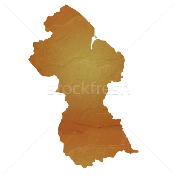 Mintázott térkép Guyana barna kő kő Stock fotó © speedfighter