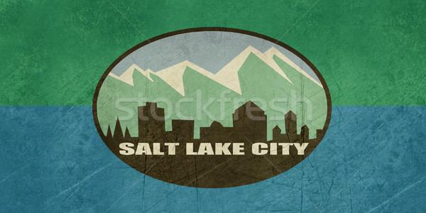 Grunge Salt Lake city flag Stock photo © speedfighter