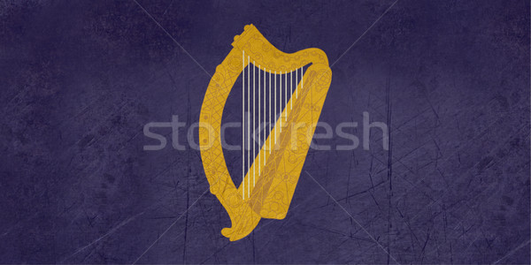 Photo stock: Grunge · or · harpe · Irlande · pavillon · or