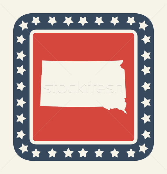South Dakota amerikaanse knop Amerikaanse vlag web design stijl Stockfoto © speedfighter