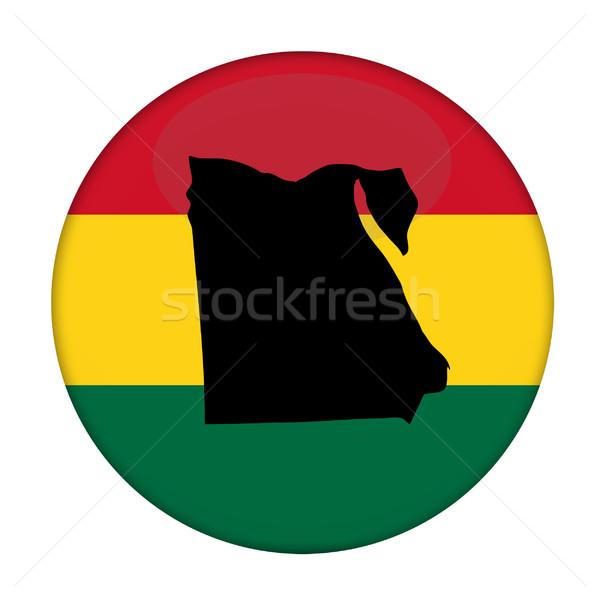 Egyiptom térkép zászló gomb fehér üzlet Stock fotó © speedfighter