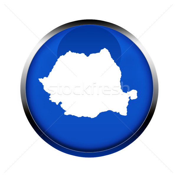 Romênia mapa botão cores europeu união Foto stock © speedfighter