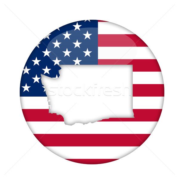 Вашингтон Америки Знак изолированный белый бизнеса Сток-фото © speedfighter