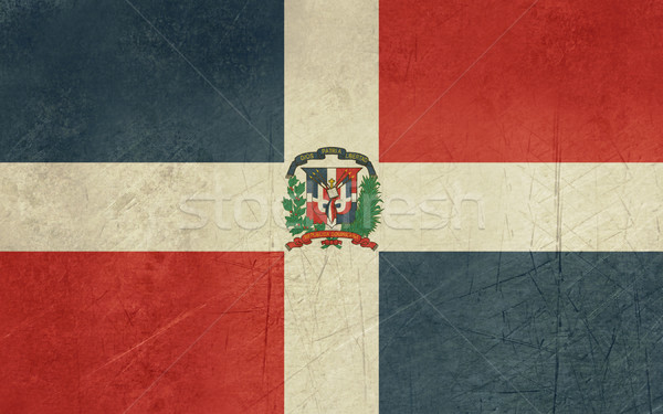 Grunge Dominican Republic flag Stock photo © speedfighter