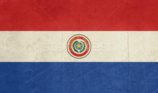 Grunge Paraguay zászló vidék hivatalos színek Stock fotó © speedfighter