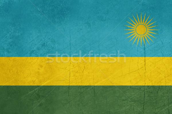 Гранж Руанда флаг стране официальный цветами Сток-фото © speedfighter