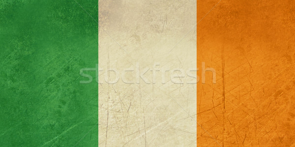 Ierse driekleur vlag grunge republiek Ierland Stockfoto © speedfighter