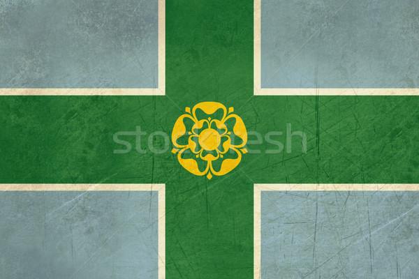 Derbyshire County flag Stock photo © speedfighter
