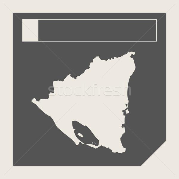 Nicaragua térkép gomb reszponzív web design izolált Stock fotó © speedfighter