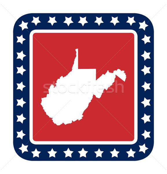 West Virginia knop Amerikaanse vlag web design stijl geïsoleerd Stockfoto © speedfighter
