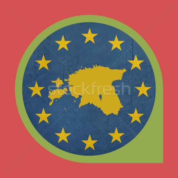 Europeu união Estônia marcador pin botão Foto stock © speedfighter