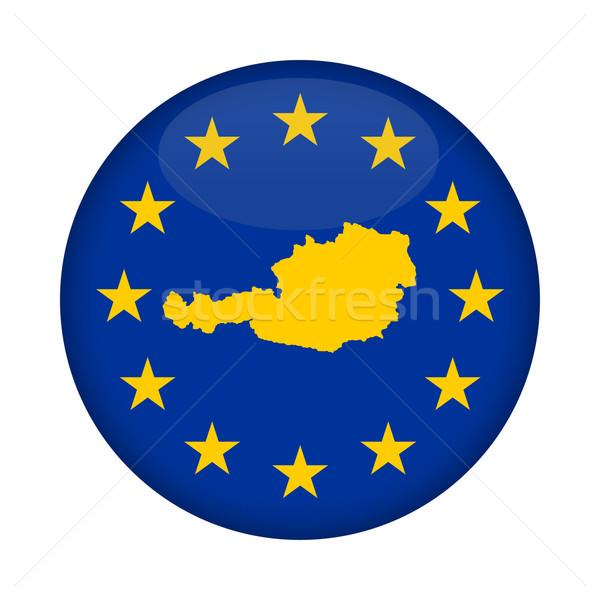 Ausztria térkép európai szövetség zászló gomb Stock fotó © speedfighter