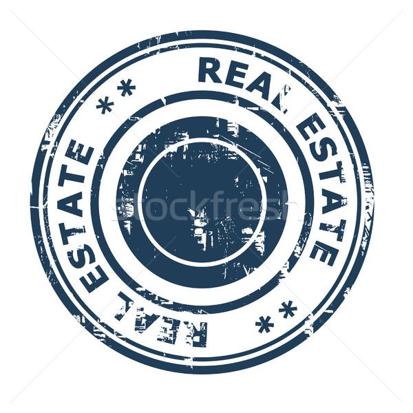Imóveis negócio isolado branco azul Foto stock © speedfighter