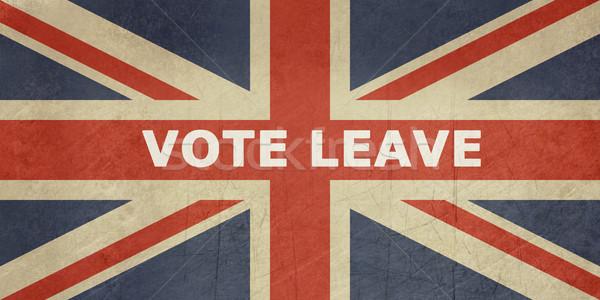 Egyesült Királyság szavazás búcsú felirat brit zászló zászló Stock fotó © speedfighter
