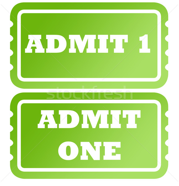 Admit one green tickets Stock photo © speedfighter