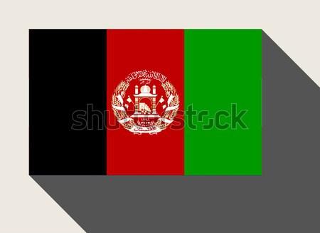 Afeganistão bandeira web design estilo botão Foto stock © speedfighter
