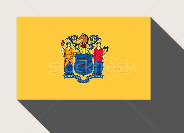 Amerikaanse New Jersey vlag web design stijl knop Stockfoto © speedfighter