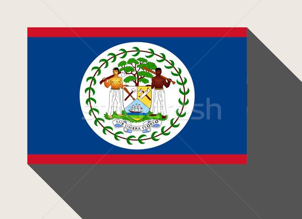 Stock fotó: Belize · zászló · web · design · stílus · gomb