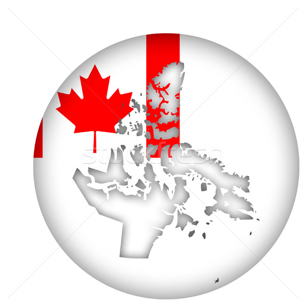 Canada Nunavut state map flag button Stock photo © speedfighter