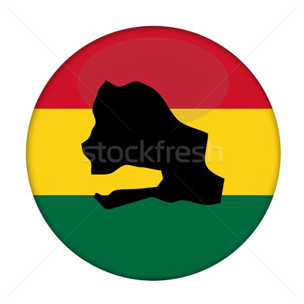 Senegal mapa bandeira botão branco negócio Foto stock © speedfighter