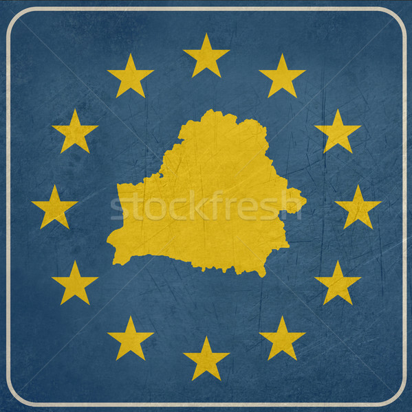 Grunge Belarus European button Stock photo © speedfighter