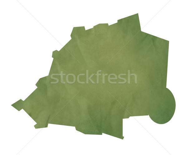 Ватикан карта зеленый бумаги старые изолированный Сток-фото © speedfighter