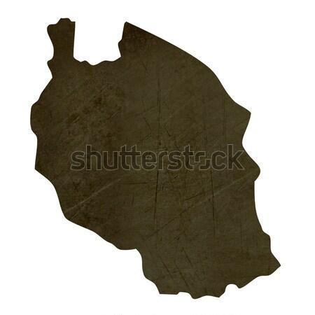Escuro mapa Argélia isolado branco Foto stock © speedfighter