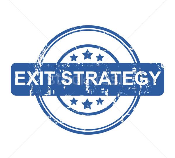 終了する 戦略 青 ビジネス スタンプ 星 ストックフォト © speedfighter