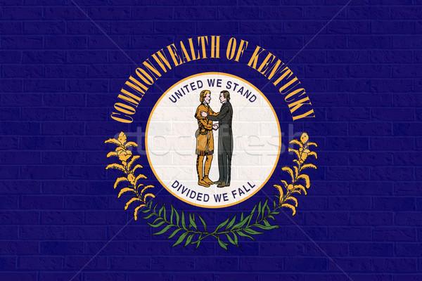 Kentucky vlag muur amerika geïsoleerd witte Stockfoto © speedfighter