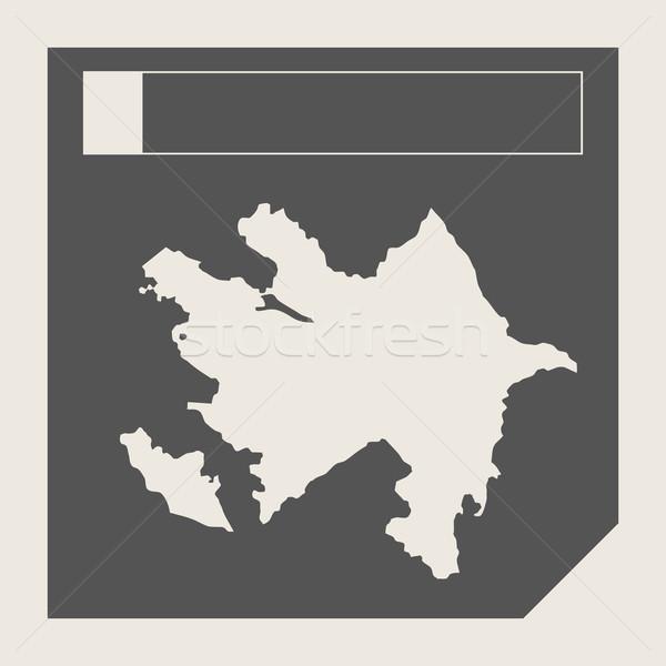 Azerbaiyán mapa botón sensible diseno web aislado Foto stock © speedfighter