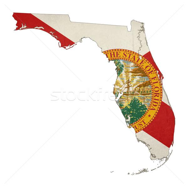 フロリダ グランジ フラグ 地図 孤立した 白 ストックフォト © speedfighter