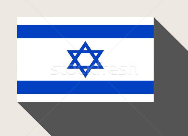 İsrail bayrak web tasarım stil harita düğme Stok fotoğraf © speedfighter