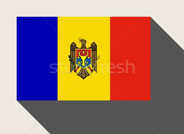 Moldova zászló web design stílus térkép gomb Stock fotó © speedfighter