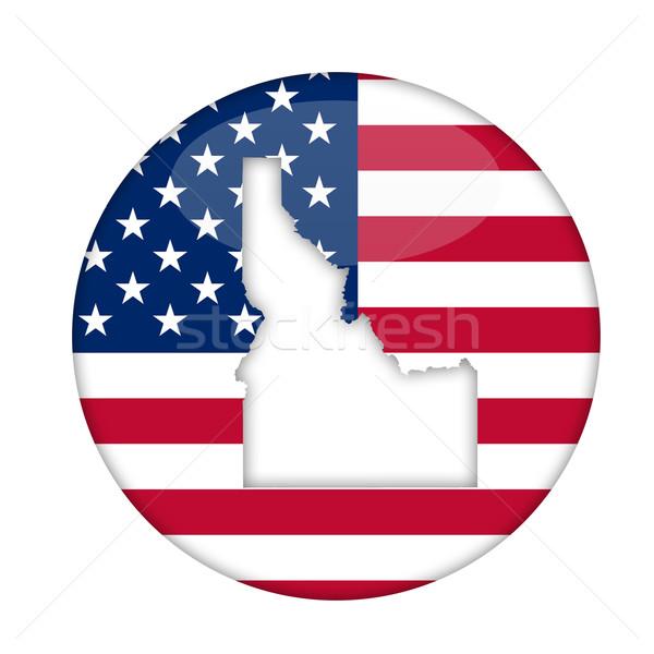 Idaho américa distintivo isolado branco negócio Foto stock © speedfighter