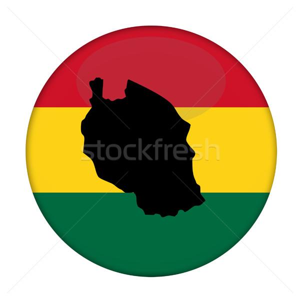Tansania Karte Flagge Taste weiß Business Stock foto © speedfighter