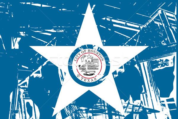 Хьюстон город флаг США путешествия баннер Сток-фото © speedfighter
