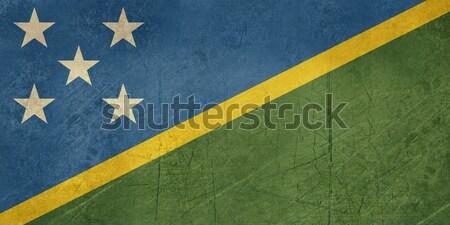 Grunge Isole Salomone bandiera paese ufficiale Foto d'archivio © speedfighter