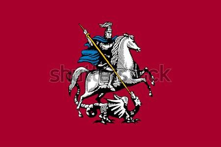 Moscou cidade bandeira ilustração russo bandeira Foto stock © speedfighter
