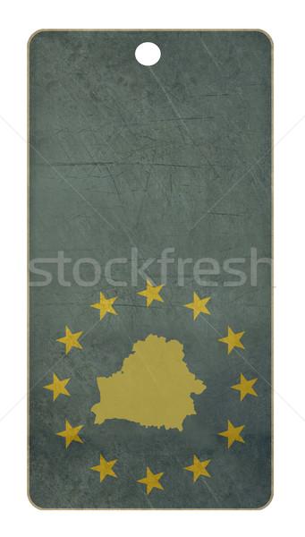 Europese unie Wit-Rusland reizen tag geïsoleerd Stockfoto © speedfighter