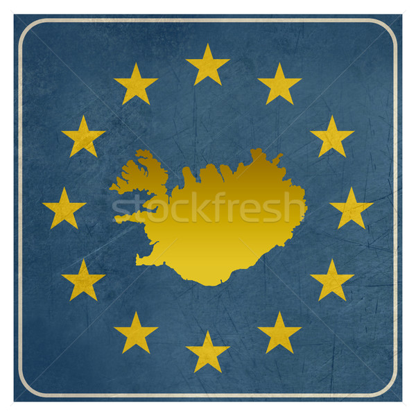 Iceland European sign Stock photo © speedfighter