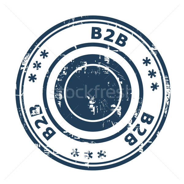 B2B concept stamp Stock photo © speedfighter