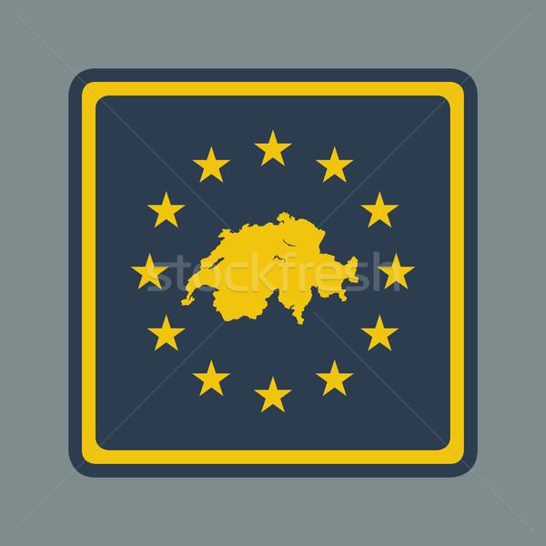 Switzerland European flag button Stock photo © speedfighter