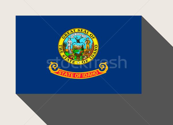 Amerikaanse Idaho vlag web design stijl knop Stockfoto © speedfighter