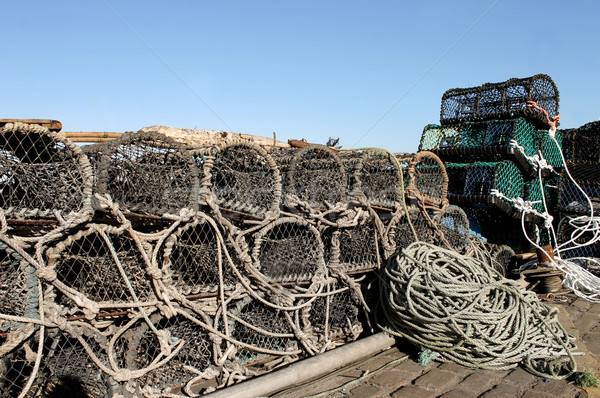 Lobster pots and fishing nets Stock photo © speedfighter