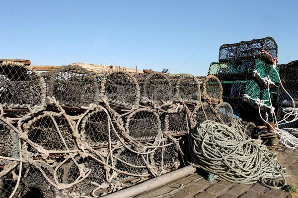 Lagosta pescaria porto indústria inglaterra marinha Foto stock © speedfighter