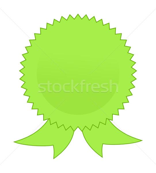 Blank green rosette Stock photo © speedfighter