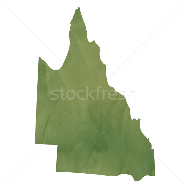 Queensland map on green paper Stock photo © speedfighter