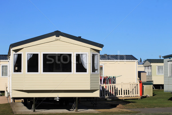 Trailer in caravan park Stock photo © speedfighter